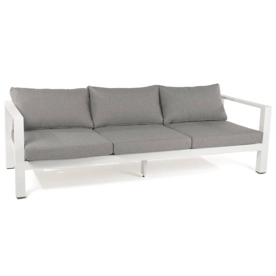 wetterfest outdoor sofa bank garten lounge aluminium gestell nanotex 3 sitzer ebay. Black Bedroom Furniture Sets. Home Design Ideas