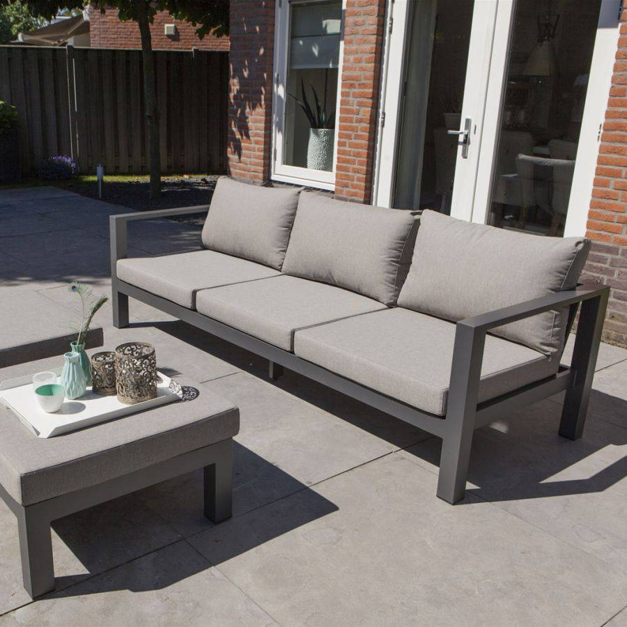 exotan cannes gartenbank aus aluminium mit nanotex bez gen lounge bank sofa ebay. Black Bedroom Furniture Sets. Home Design Ideas