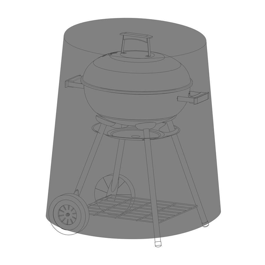 abdeckhaube schutzh lle f r grill rund 50 cm h he 80 cm. Black Bedroom Furniture Sets. Home Design Ideas