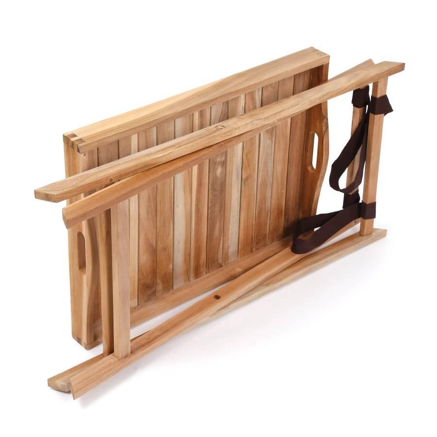 beistell tablett f r garten terrasse klappbar teak. Black Bedroom Furniture Sets. Home Design Ideas