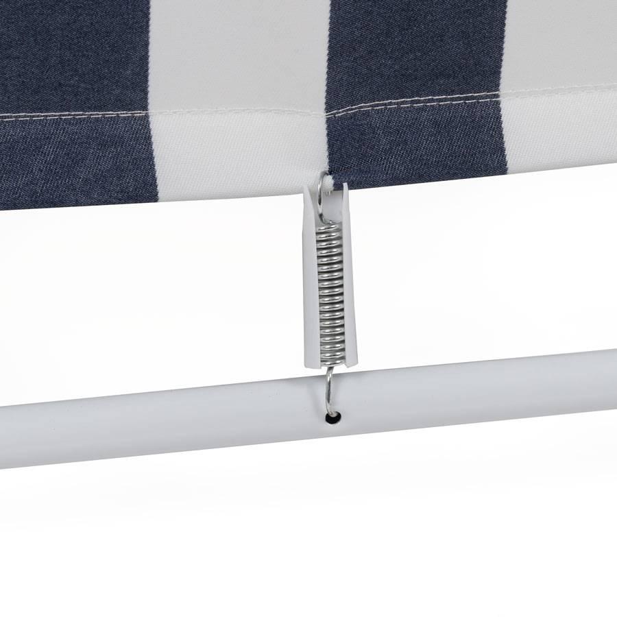 klappstuhl stahlrahmen und textilgewebe blau weiss gestreift stahlrohr stoff ebay. Black Bedroom Furniture Sets. Home Design Ideas