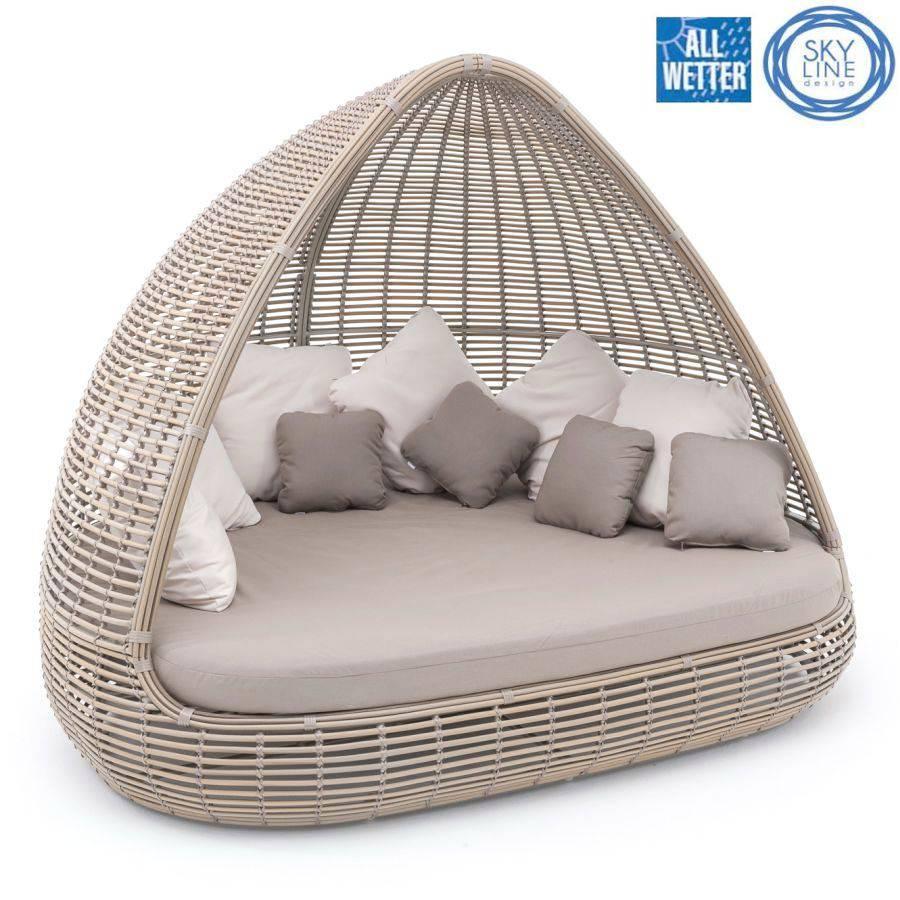 sonneninsel lounge muschel allwetter kissen garten. Black Bedroom Furniture Sets. Home Design Ideas