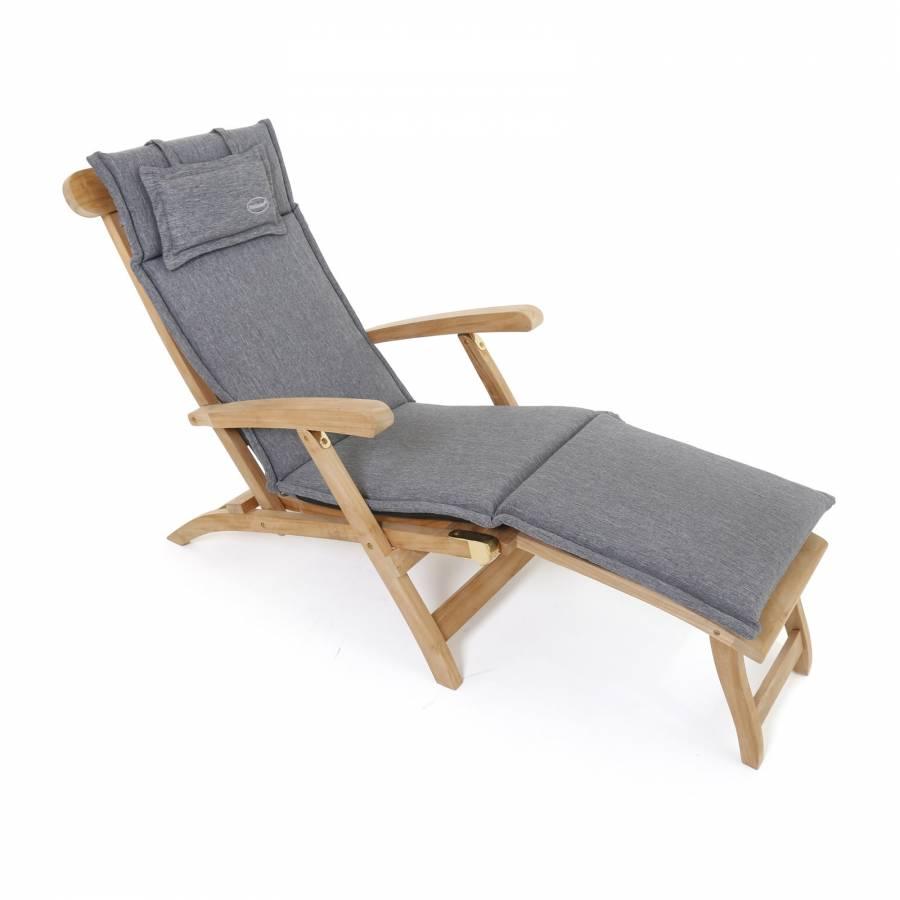 allwetter auflage olefin f r deckchair 184x46 cm grau cushion coussin grey ebay. Black Bedroom Furniture Sets. Home Design Ideas