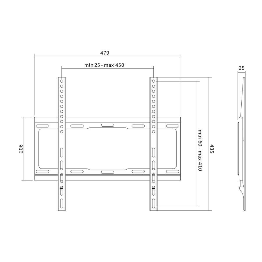 wandhalterung vesa tv monitor befestigung fest 32 55 zoll bis 40 kg belastbar ebay. Black Bedroom Furniture Sets. Home Design Ideas
