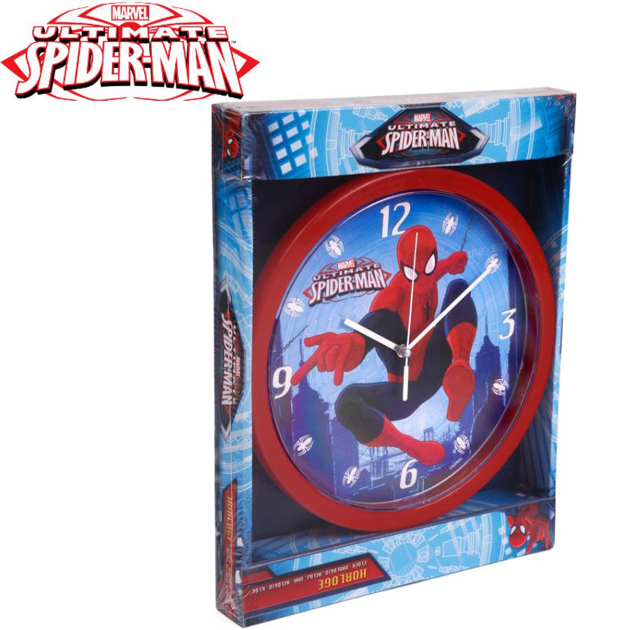spider man wanduhr rund 25 cm durchmesser. Black Bedroom Furniture Sets. Home Design Ideas