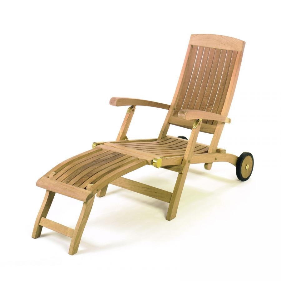 roggemann teak a qualit t holz liegestuhl mit r dern deckchair gartenliege neu ebay. Black Bedroom Furniture Sets. Home Design Ideas