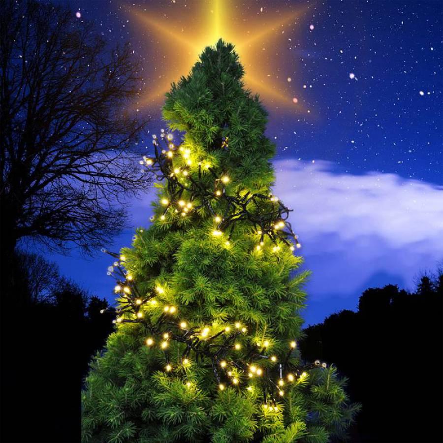 weihnachten led lichterkette weiss leds 5m zuleitung indoor outdoor ip44 x mas ebay. Black Bedroom Furniture Sets. Home Design Ideas