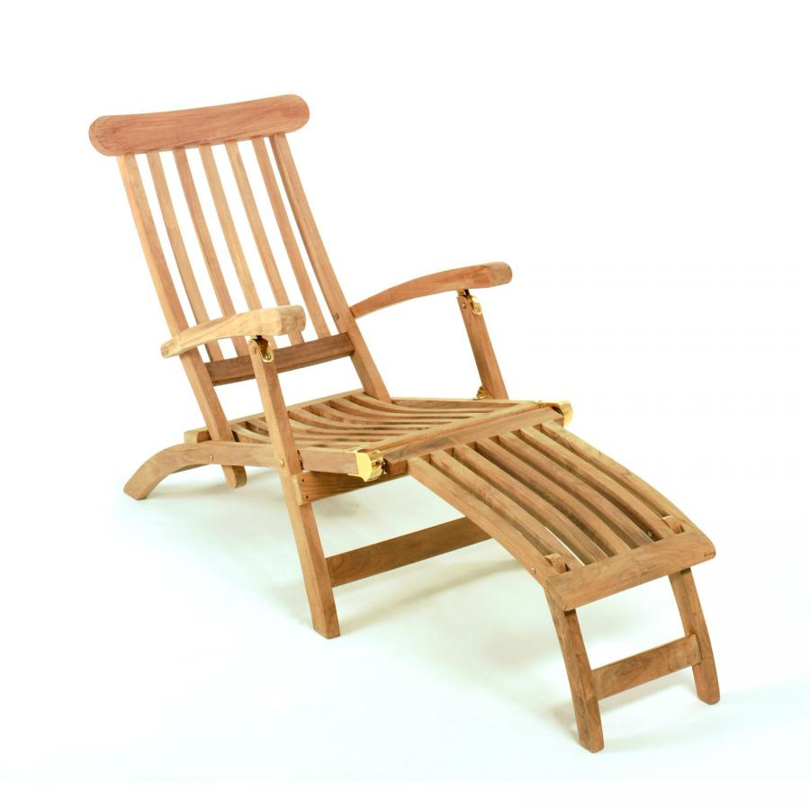 gartenliege aus teakholz teak holz holzliege deckchair. Black Bedroom Furniture Sets. Home Design Ideas