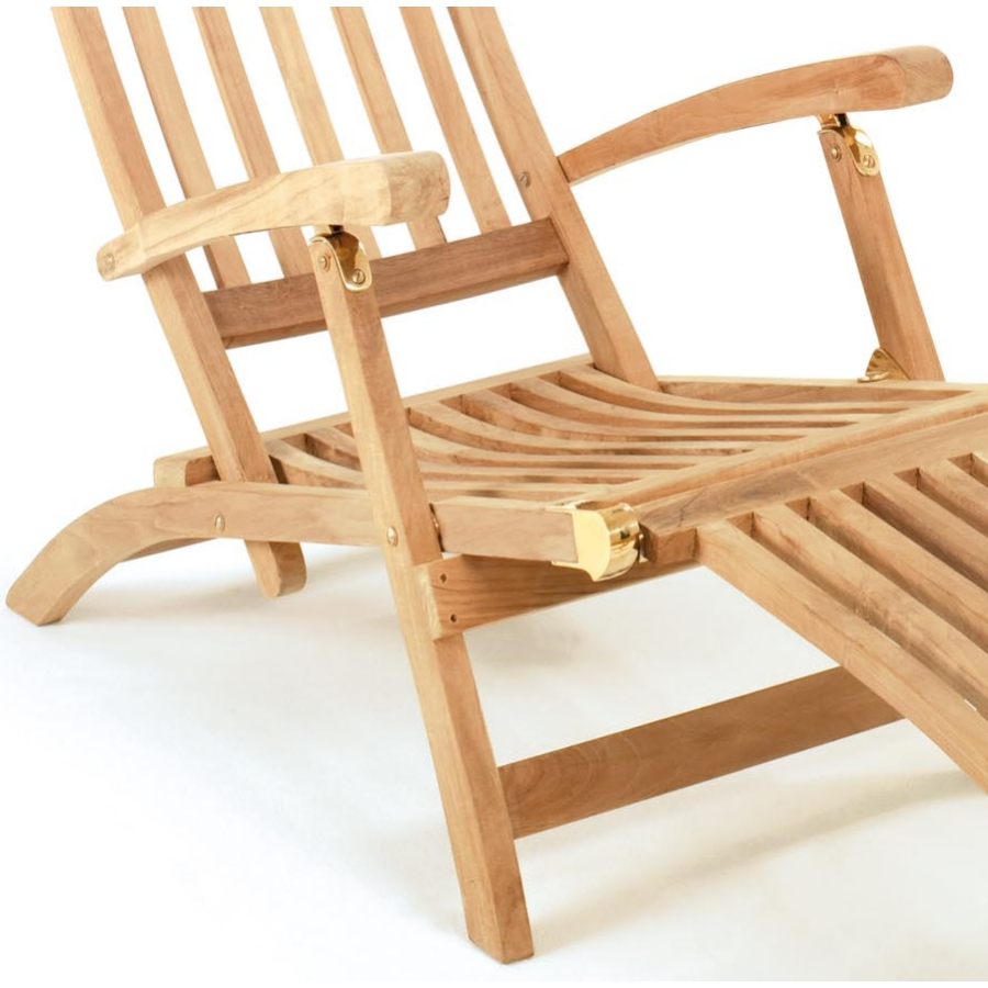 roggemann tl8008 teak liegestuhl deckchair san miguel armlehne sonnenliege ebay. Black Bedroom Furniture Sets. Home Design Ideas