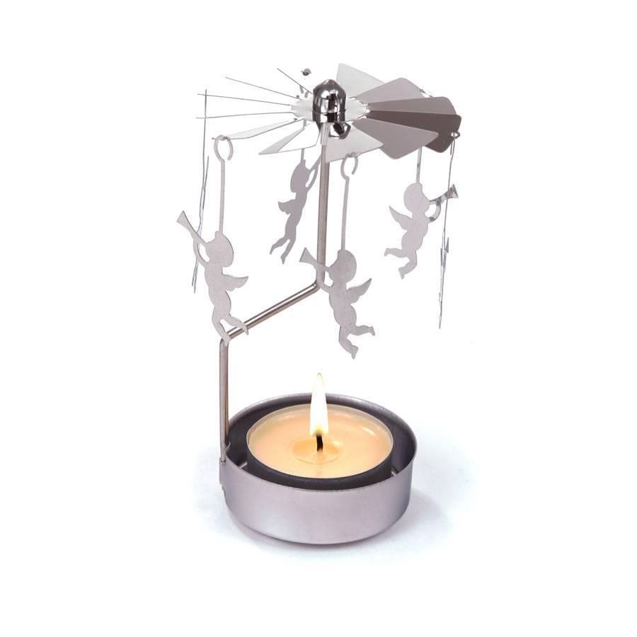 Schnellversand teelicht karussell aus edelstahl 9x12cm for Edelstahl dekoration