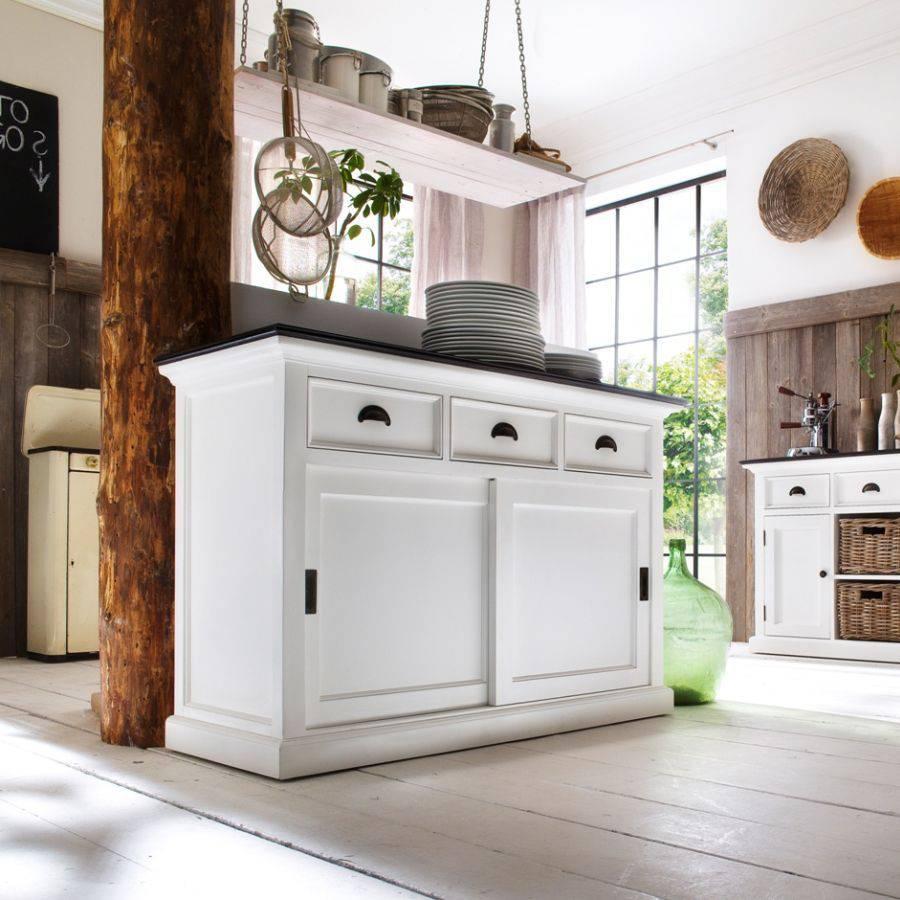 b130ct buffetschrank kommode mit schiebet ren. Black Bedroom Furniture Sets. Home Design Ideas