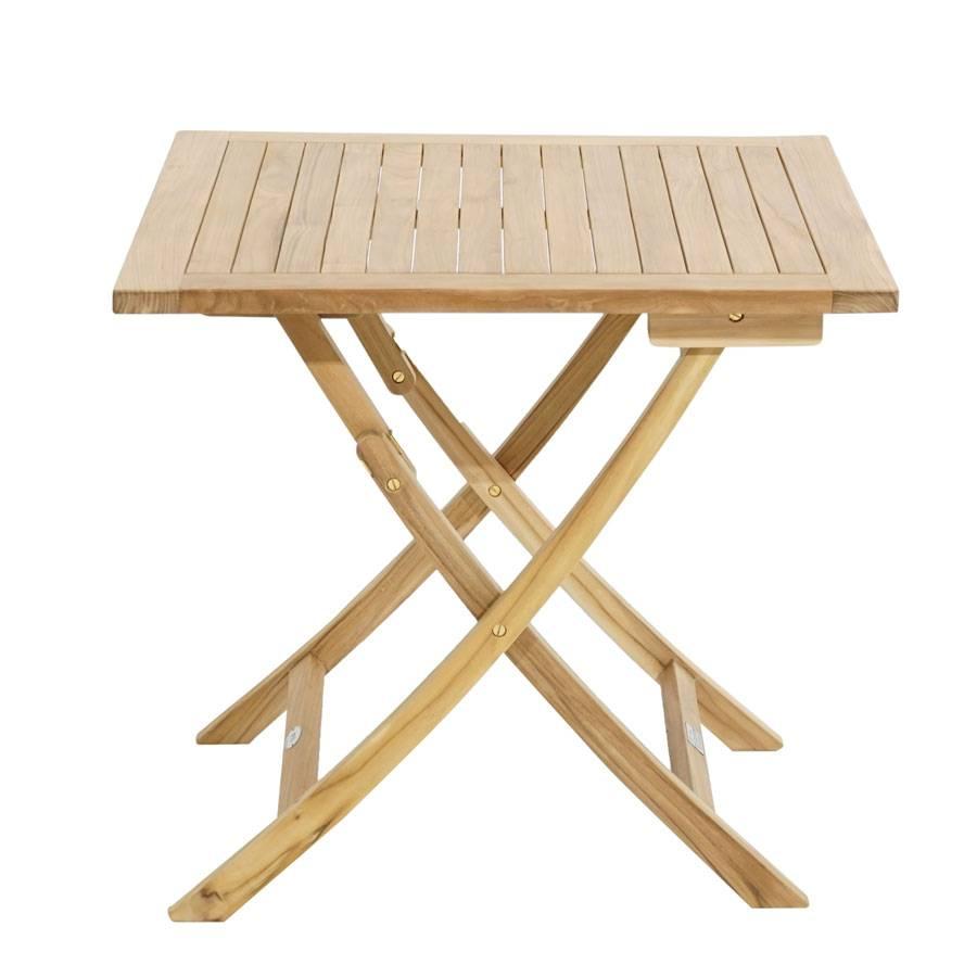 ploss teak tisch alabama klappbar quadratisch 80 x 80 cm. Black Bedroom Furniture Sets. Home Design Ideas