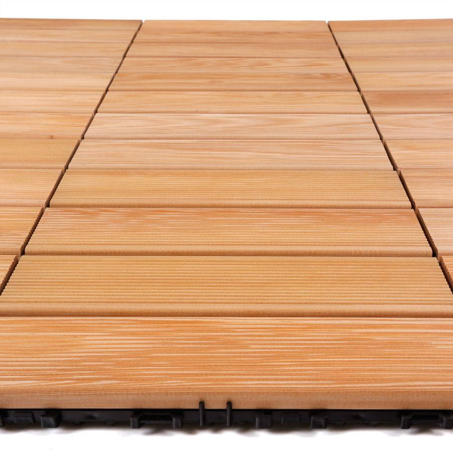 10 st klick holzfliese sibirische l rche 30 x 30 cm 0 9 qm. Black Bedroom Furniture Sets. Home Design Ideas
