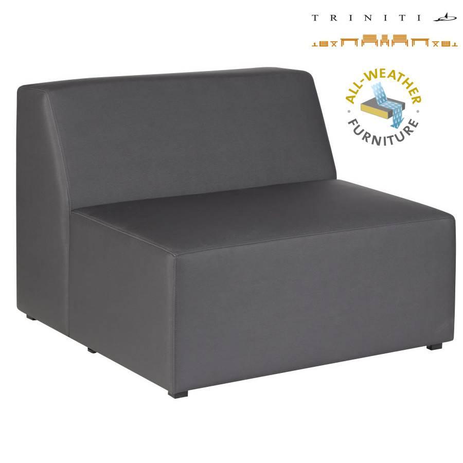 wetterfest vino lounge dunkelgrau gartenlounge gartensofa terrasse sofa outdoor ebay. Black Bedroom Furniture Sets. Home Design Ideas