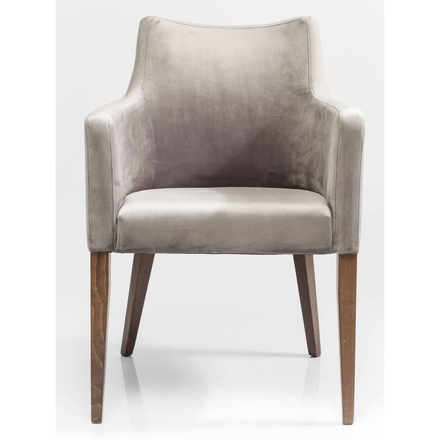 kare design polsterstuhl mit armlehne mode velvet grau samt esszimmer st hle ebay