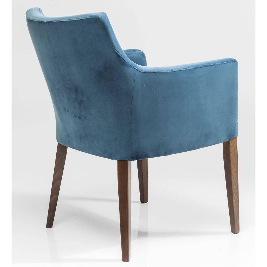 Kare design polsterstuhl armlehne petrol blau samt dining for Stuhl design esszimmer