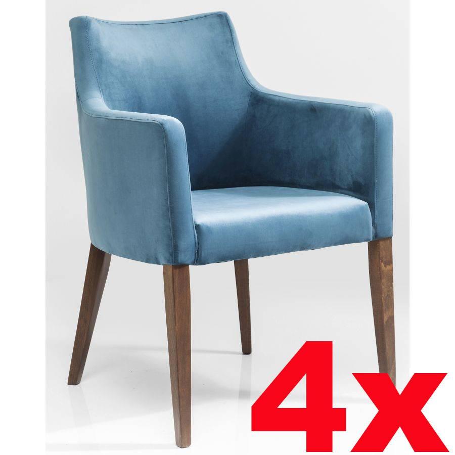 Kare design polsterstuhl armlehne petrol blau samt dining - Kare design stuhl ...