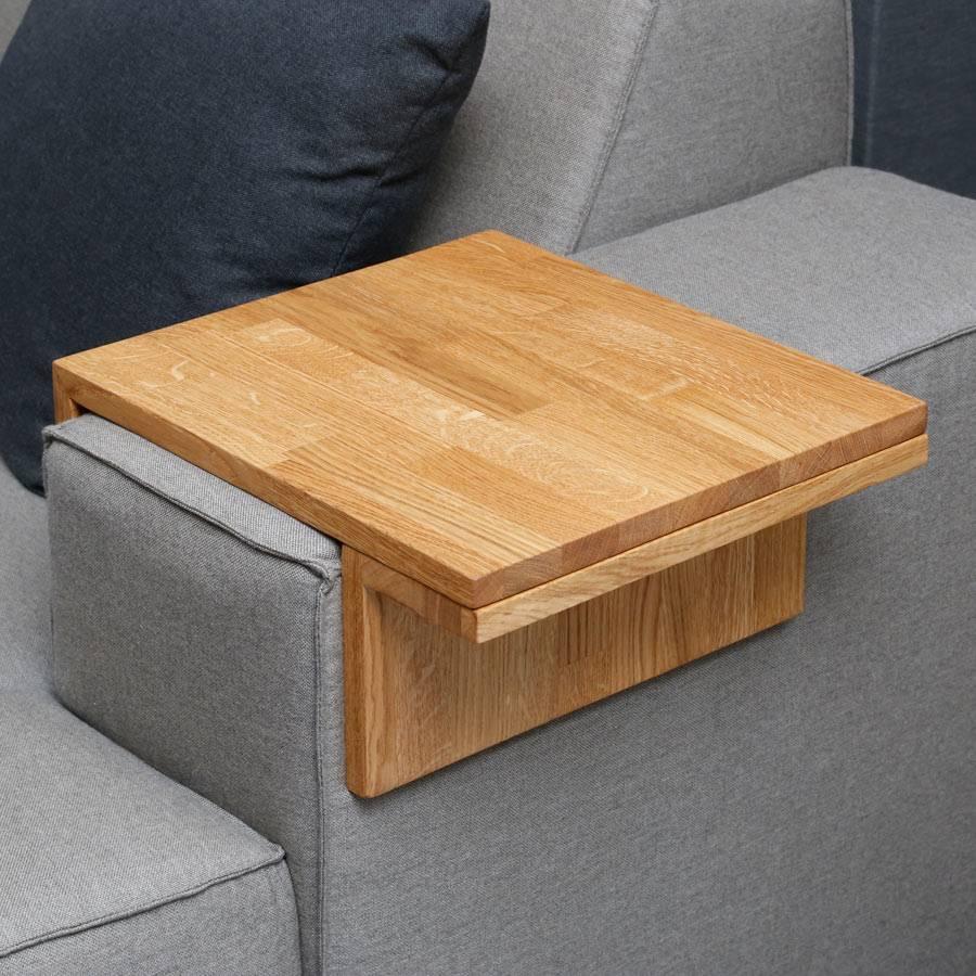 Tablett f r sofa couch lounge armlehne eichenholz for Sofa tablett