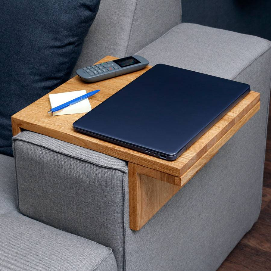 tablett f r sofa couch armlehne 20 25 cm breite verstellbar tableau butler ebay. Black Bedroom Furniture Sets. Home Design Ideas