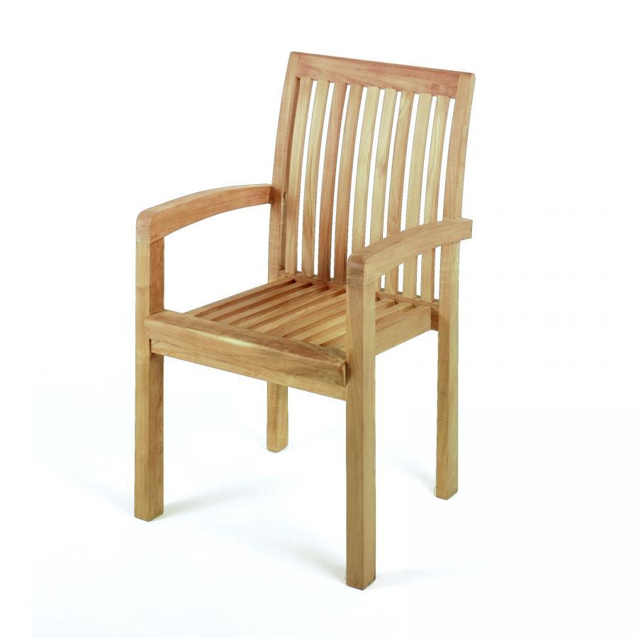 teak stuhl stapelbar holzstuhl gartenstuhl teakholz neu ebay. Black Bedroom Furniture Sets. Home Design Ideas