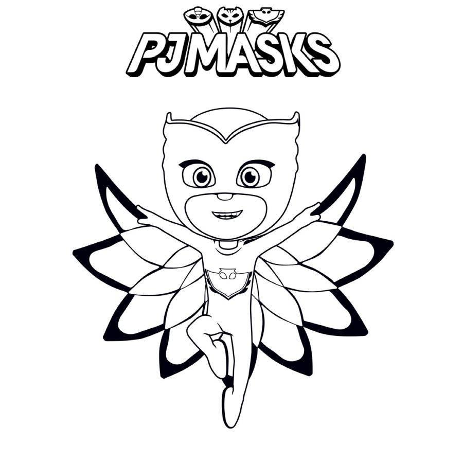 Pj Masks Puzzle 2 Seitig Zum Ausmalen 24 Teile
