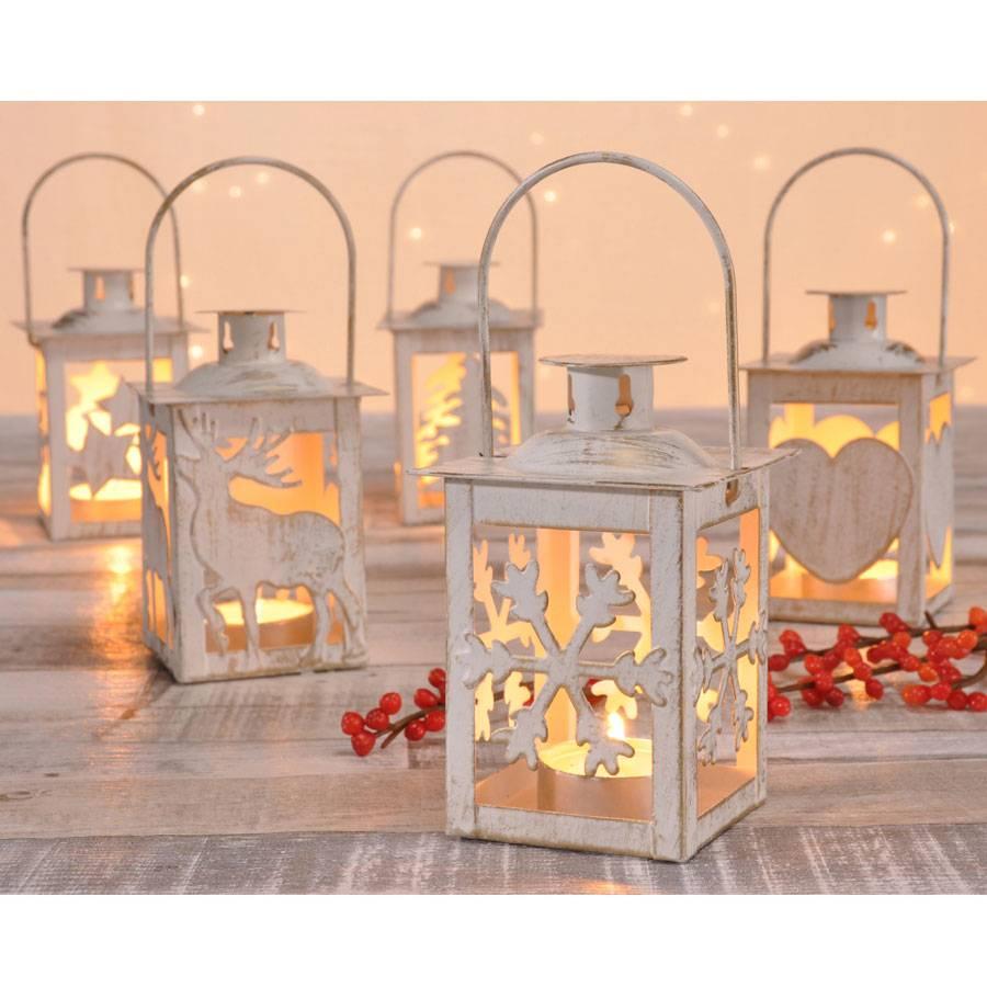 Weihnachten Dekoration Teelicht Laterne Messing 7 X 11 Cm Windlicht