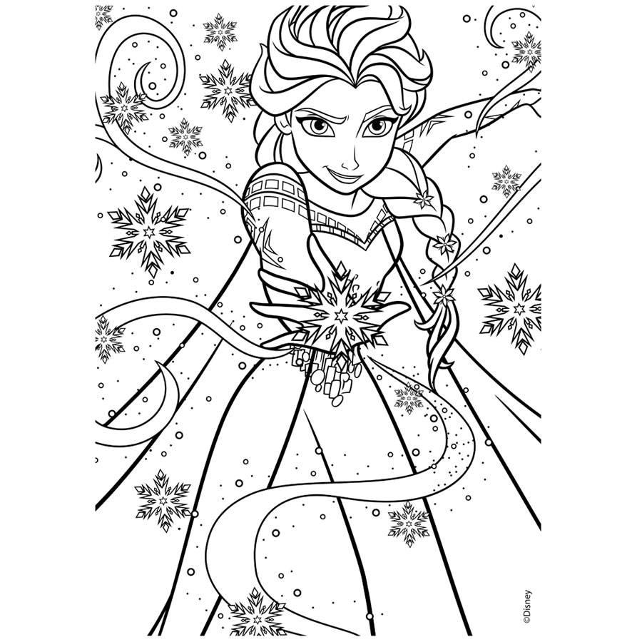 Frozen Die Eiskönigin Puzzle 2 Seitig Zum Ausmalen 24 Teile