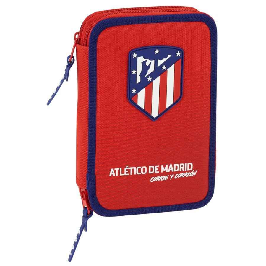 ATLETICO MADRID  - FEDERTASCHE 34-TEILIG - KOLLEKTION ROT