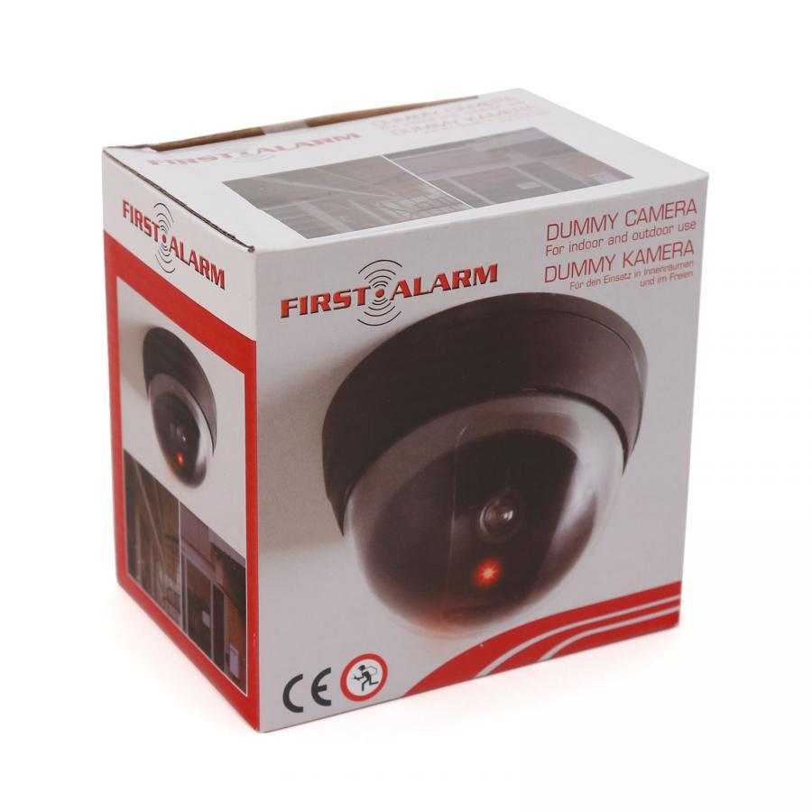 FIRST ALARM Überwachungskamera blinkende LED Kamera Attrappe Dummy Camera NEU