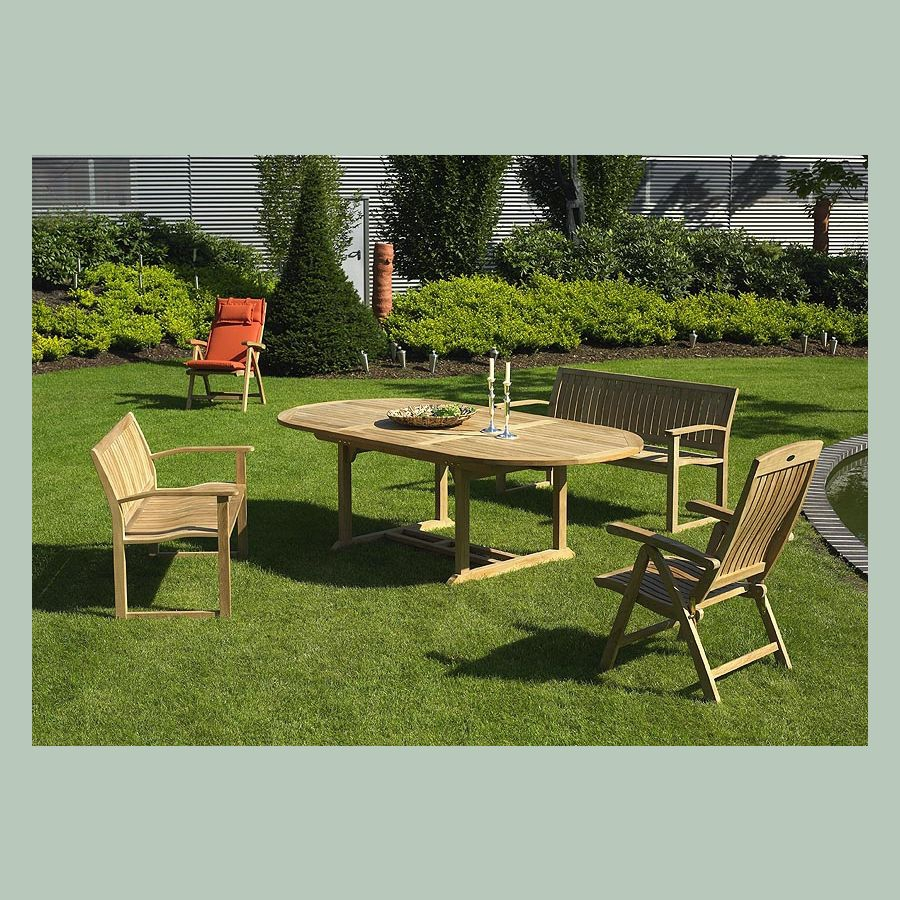 rog gardenline grosser teaktisch vivagardea esstisch ausziehbar 240 cm hamburg ebay. Black Bedroom Furniture Sets. Home Design Ideas