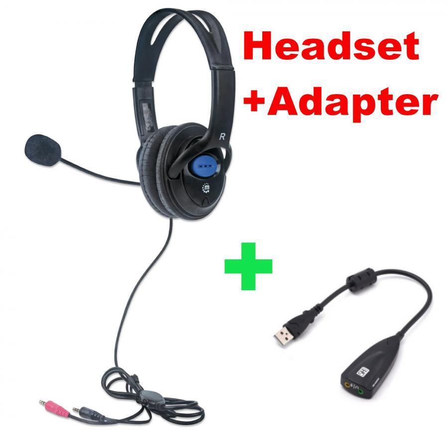 Zwei Headsets An Einem Pc