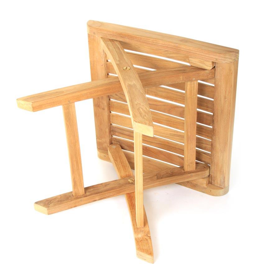 hocker teakholz f r garten und terrasse klappbar teakhocker fussbank vivagardea ebay. Black Bedroom Furniture Sets. Home Design Ideas
