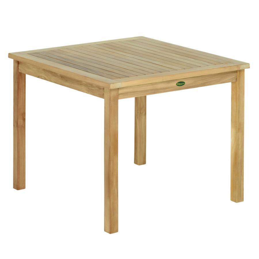 Tl8132 teak tisch fest 90x90 cm holztisch gartentisch for Tisch 90x90