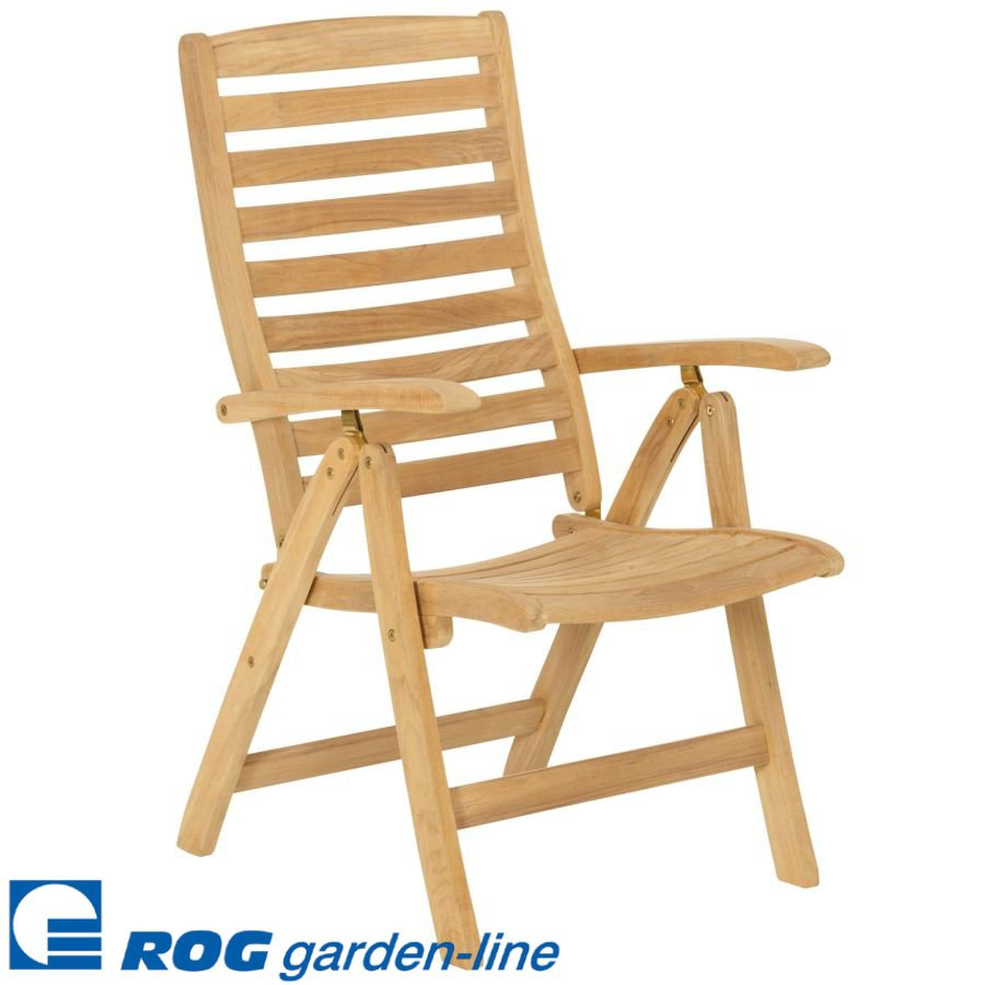 rog gardenline teak gartenstuhl hochlehner holzstuhl gartenm bel laden hamburg ebay. Black Bedroom Furniture Sets. Home Design Ideas