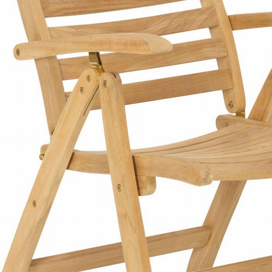 klappstuhl teak hochlehner teakstuhl vivagardea. Black Bedroom Furniture Sets. Home Design Ideas