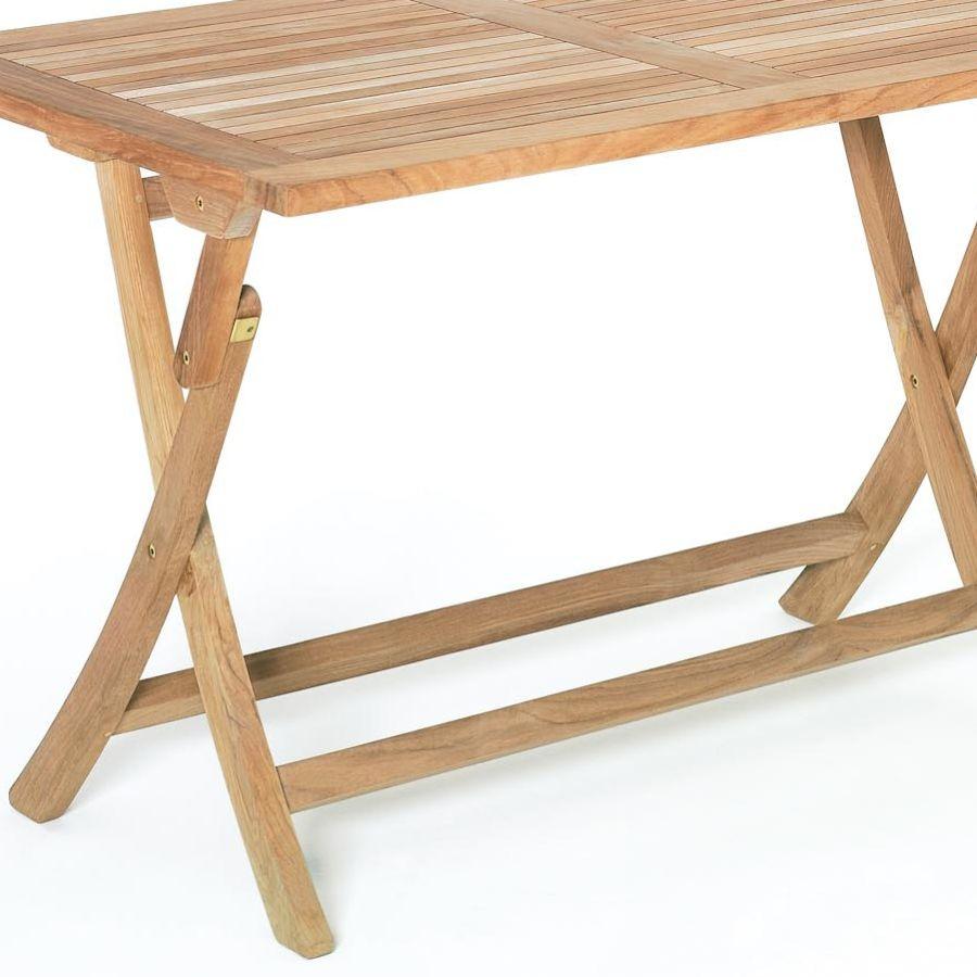 roggemann tl8114 teak tisch 120x75 cm klappbar a qualit t klapptisch gartentisch ebay. Black Bedroom Furniture Sets. Home Design Ideas